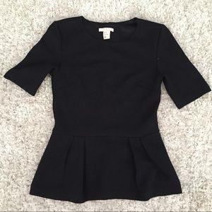 H&M peplum black blouse